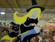 Sorcière et chat, Foodland de Tracadie, Halloween 2011