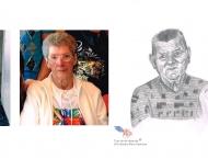 Grands-parents Robichaud, dessin au crayon sur papier Canson, 8 x 10 Vendu, collection privée