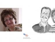 Claude et Émeline Mercure, dessin au crayon sur papier Canson, 8 x 10 Vendu, collection privée