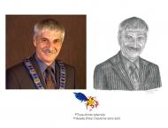 Aldéoda Losier, dessin au crayon, 8 x 10, Vendu à la mairie du Grand-Tracadie-Sheila