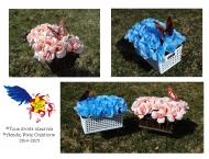 Arrangement floral dans un panier - Acadie Pixie Créations - Vendu