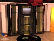 Chambre à coucher d'inspiration orientale