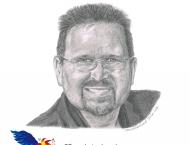 Denis Losier, crayon 8 x 10, Vendu à la Mairie de Tracadie