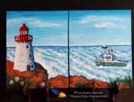 À vendre-Le phare, Acrylique sur toile, 2x 8 x 10