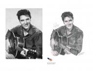 À Vendre- Elvis Presley, Crayon 8 x 10