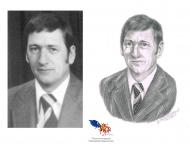 Gérard Laplante,Crayon 8 x 10, Vendu à la mairie de la ville du Grand Tracadie-Sheila