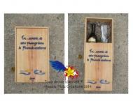 Vendu collection privée- Peinture sur boite de bois